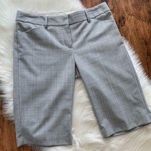 EXPRESS Gray Editor Long Bermuda Dressy Shorts 4